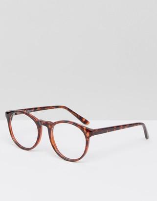 Aj Morgan Round Glasses In Tort