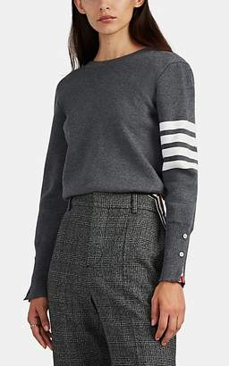 Thom Browne Women's Backward Block-Striped Wool Cardigan - Gray