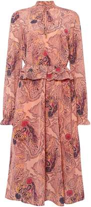 Biba Paisley print long sleeve midi dress
