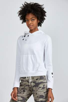 Monrow PULLOVER HOODY WITH EMBROIDERED STARS