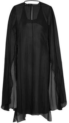 Narciso Rodriguez Layered Silk-Chiffon And Silk-Satin Midi Dress