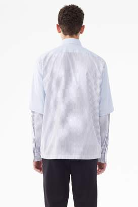 3.1 Phillip Lim Short Sleeve Double-Layered Button-Down Shirt