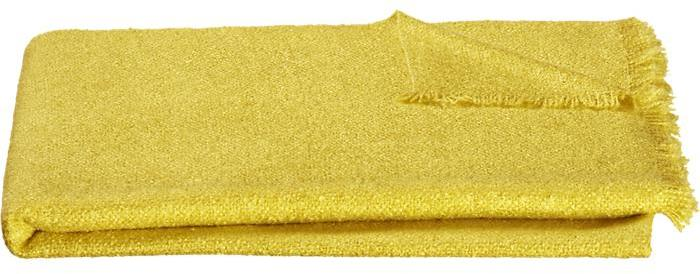 Crate & Barrel Cambria Yellow Throw