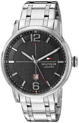 Tommy Hilfiger Men's George Black And Stainless Link Watch 1791215