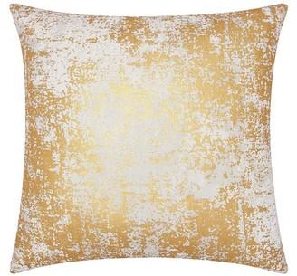 Nourison Luminecence Distressed Metallic Gold Throw Pillow