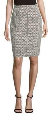 J. Mendel Lace Pencil Skirt