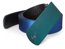 Giuseppe Zanotti Mirror Plaque Silk Belt $450 thestylecure.com