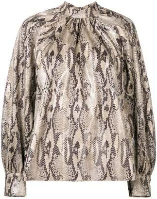 MSGM snake print blouse