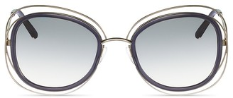 Chloé Carlina Rounded Square Sunglasses, 56mm $376 thestylecure.com