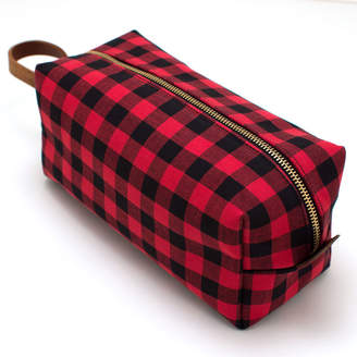 General Knot & Co Buffalo Check Travel Kit