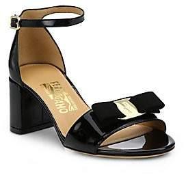 4956b6d86b66 Salvatore Ferragamo Women s Gavina Patent Leather Block Heel Sandals