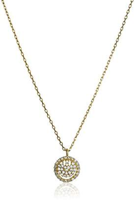 Tai Pave Smiley Face Chain Necklace
