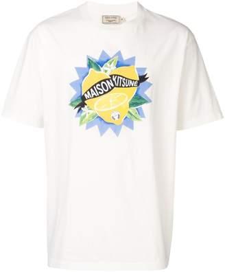 MAISON KITSUNÉ lemon print T-shirt