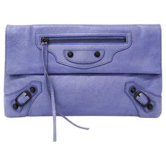 Balenciaga Envelop Purple Leather Clutch bags