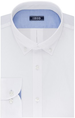 Izod Men's Slim-Fit Button-Down Collar Wrinkle-Free Dress Shirt