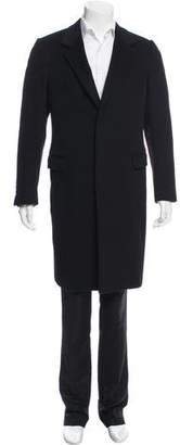 Prada Cashmere Notch-Lapel Overcoat