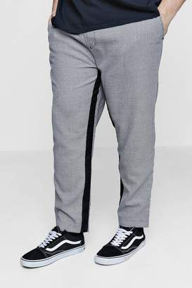 boohoo Big And Tall Dog Tooth Jogger With Panel Detail
