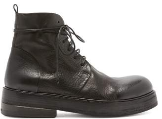 Marsèll Zuccolona Leather Ankle Boots - Mens - Black