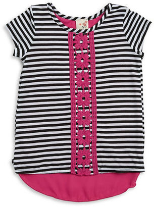 Lily Bleu Girls 2-6x Crochet Accented Hi-Lo Top $26 thestylecure.com