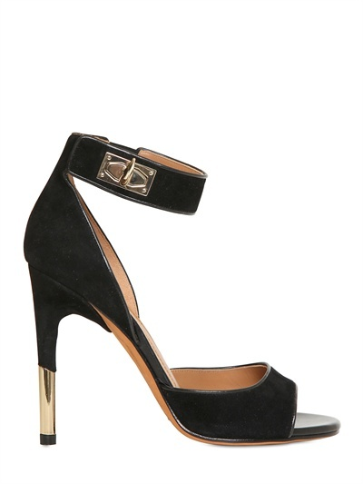 Givenchy 100mm Shark Lock Suede Sandals