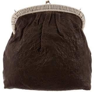 Marni Textured Leather Shoulder Bag Brown Textured Leather Shoulder Bag