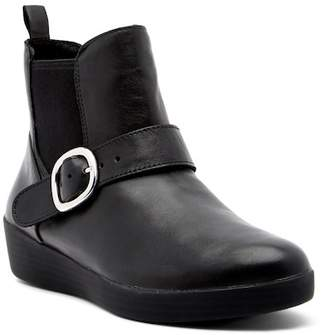 FitFlop Super Buckle Leather Chelsea Boot