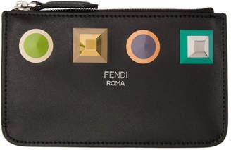 Fendi Black Studs Zipped Coin Pouch