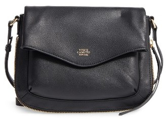 Vince Camuto Dafni Leather Crossbody - Black $158 thestylecure.com