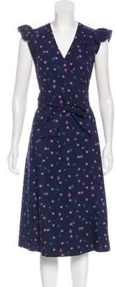 Rebecca Taylor Woven Midi Dress