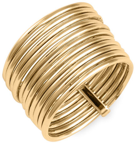Ariella Collection Stacked Gold Ring