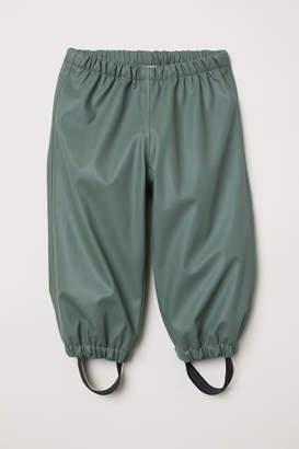 H&M Fleece-lined Rain Pants - Green
