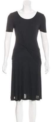 Halston Scoop Neck Short Sleeve Dress