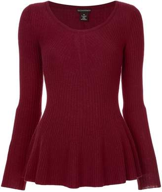 Sofia Cashmere knitted peplum top