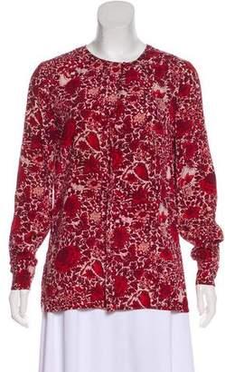 Tory Burch Silk Long Sleeve Top