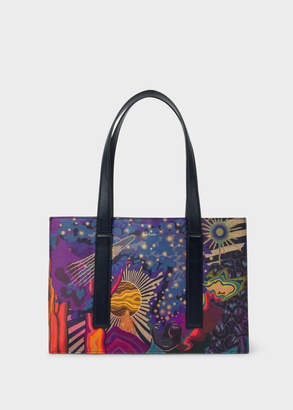 Paul Smith Women's Concertina 'Dreamer' Print Small Leather Tote Bag