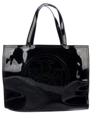 Tory Burch Perforated Patent Leather Tote