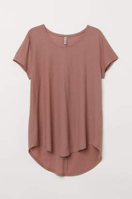 H&M H&M+ Short-sleeved Jersey Top - Pink