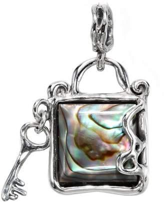 Hagit Sterling Secret Key Abalone Pendant