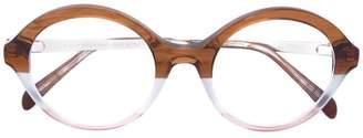 Emilio Pucci tricolour round glasses