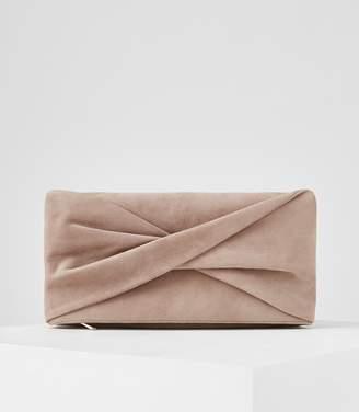 Reiss Beau Suede Clutch Bag