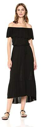 Three Dots Women's Vintage Jersey Long Loose Dress