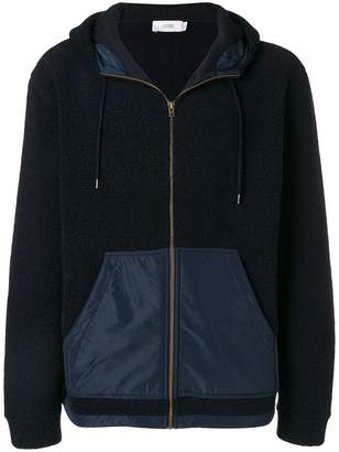 Closed hooded panelled jacket