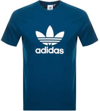 adidas Trefoil T Shirt Blue