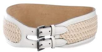 Alaia Woven Waist Belt
