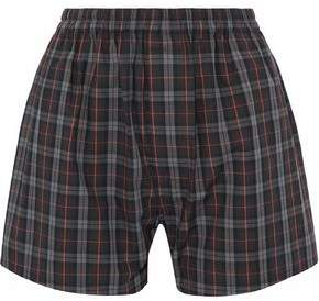 Maison Margiela Checked Cotton-Poplin Shorts