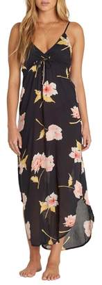 Billabong Like Minded Print Maxi Dress