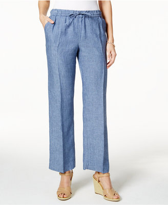 Charter Club Linen Pull-On Pants, Created for Macy's $64.50 thestylecure.com