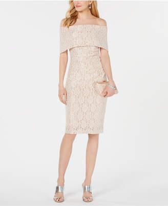 Vince Camuto Off-The-Shoulder Lace Sheath Dress