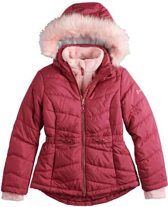 Free Country Girls 7-16 Solid Heavyweight Puffer Jacket