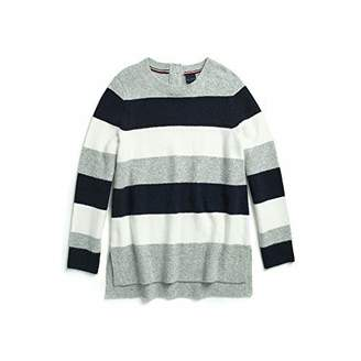 Tommy Hilfiger Adaptive Women's Striped Sweater with Magnetic Buttons